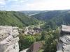 Pohled na obec Svojanov z hradní věže